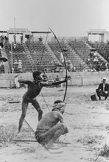 220px-Archery on Antropology days during 1904 Summer Olympics