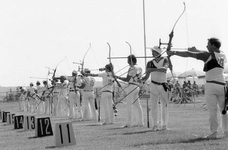 RIAN archive 103498 The contest in archery during the XXII Olympic Games